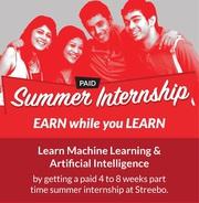 Paid Summer Internship - Earn While you Learn
