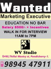 wanted marketing executive
