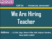 Urgent hiring for Teachers